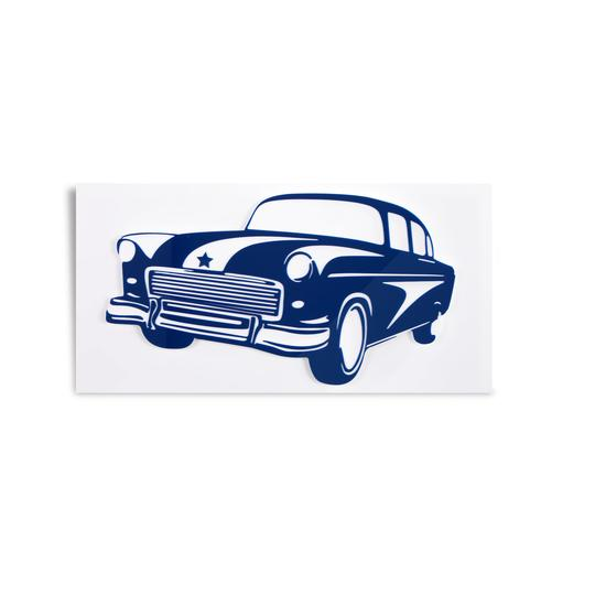 Antique Car Wall Art - Give Wink