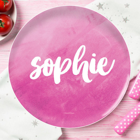 Bold Colorful Name Personalized Kids Plates - Give Wink