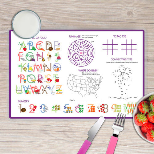 Bright Butterflies Personalized Kids Placemat - Give Wink