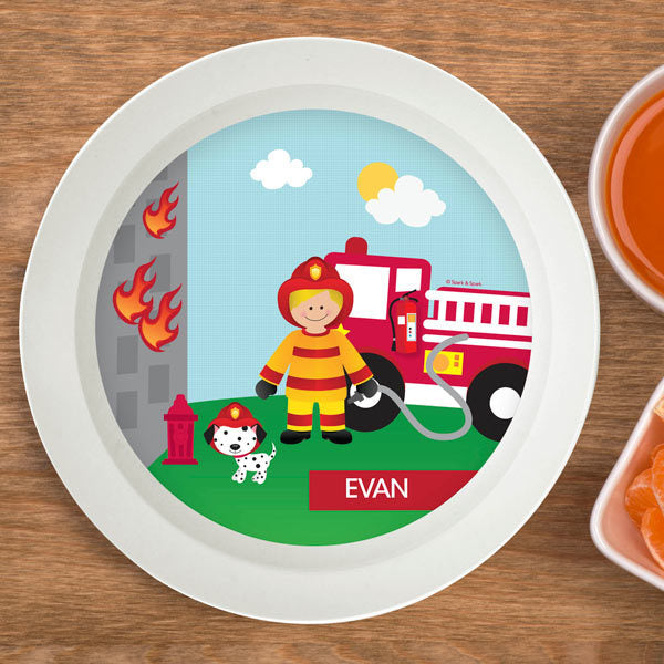 Call a Firefighter Personalized Kids Bowl - Give Wink