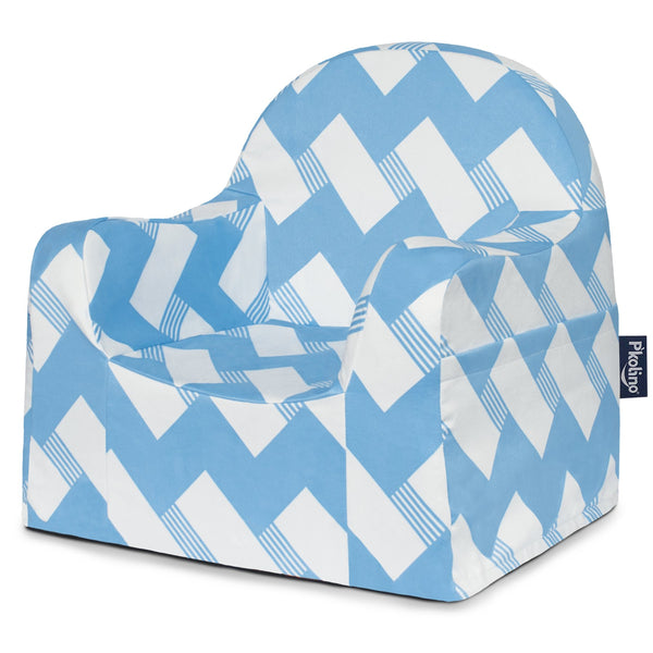 Chevron Blue Little Reader Chair - Give Wink