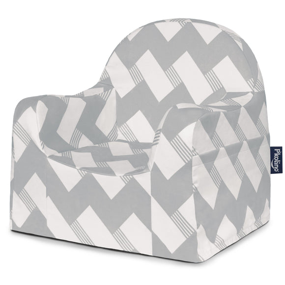 Chevron Grey Little Reader Chair - Give Wink