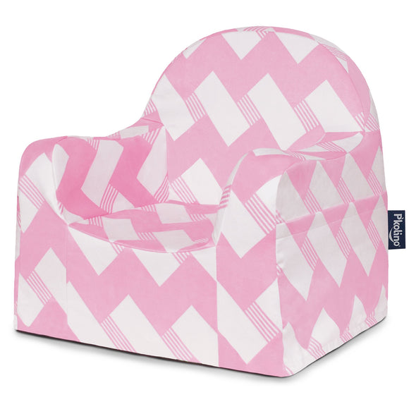 Chevron Pink Little Reader Chair - Give Wink