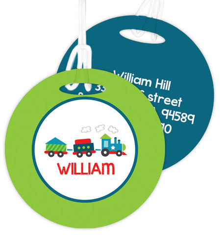 Choo Choo Train Personalized Bag Tag