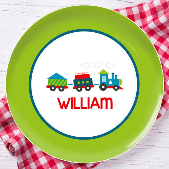 Choo Choo Train Personalized Kids Plates - Give Wink
