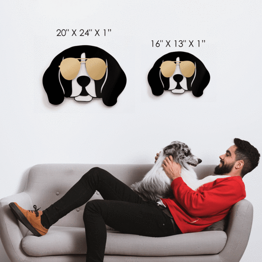 Cool Beagle Wall Art - Give Wink