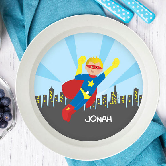 Cool Superhero Personalized Kids Bowl - Give Wink