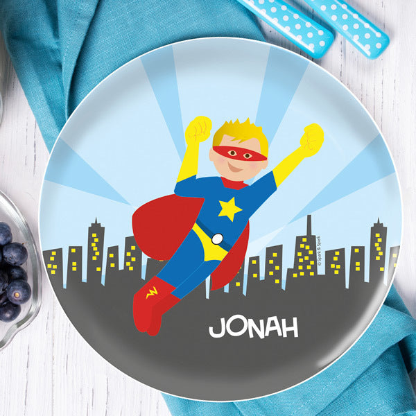 Cool Superhero Personalized Kids Plates