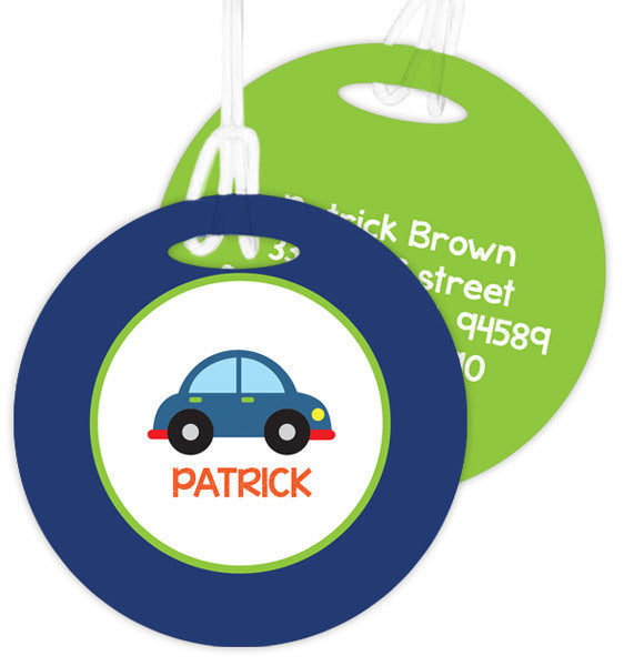 Cute Little Car Personalized Bag Tag - Give Wink