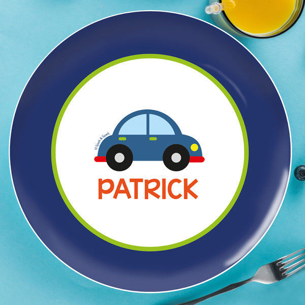 Cute Little Car Personalized Kids Plates - Give Wink