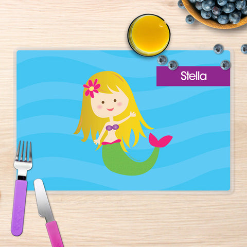 Cute Mermaid Personalized Kids Placemat
