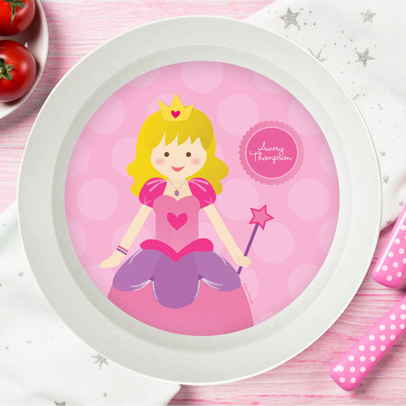 Cute Princess Personalized Kids Bowl - Give Wink