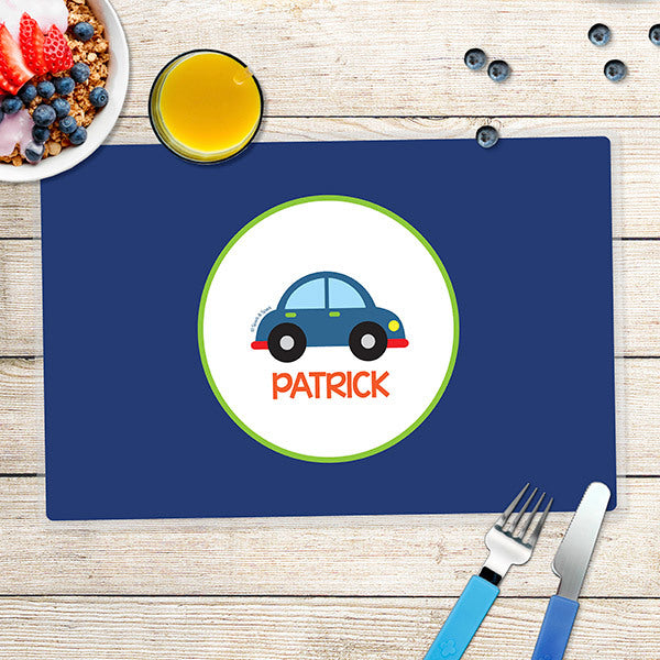 Cute Little Car Personalized Kids Placemat