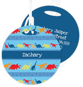 Dinosaur Trails Personalized Bag Tag - Give Wink