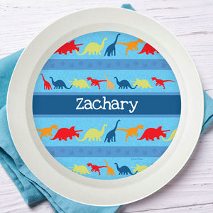 Dinosaur Trails Personalized Kids Bowl - Give Wink