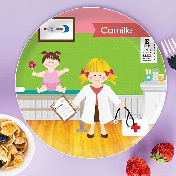 Doctor's Visit Personalized Kids Plates - Give Wink