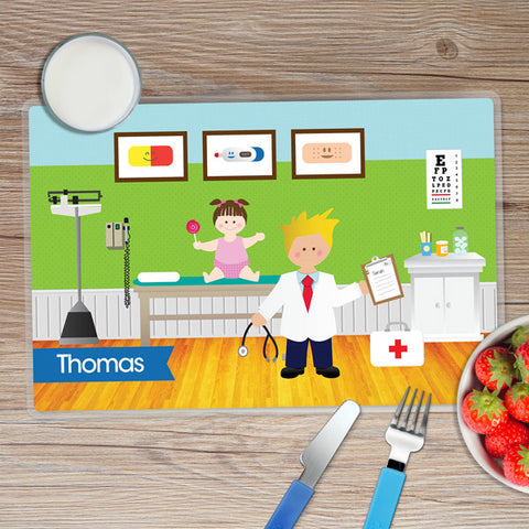 Doctor's Visit Boy Personalized Kids Placemat
