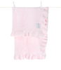 Dolce Ruffle Blanket - Little Giraffe - Give Wink Miami Baby Store - Pink