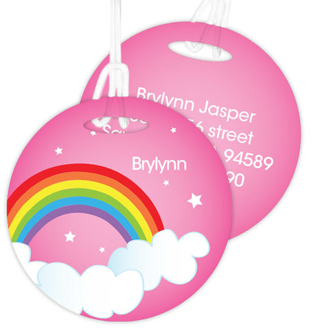Dreamy Rainbow Personalized Bag Tag