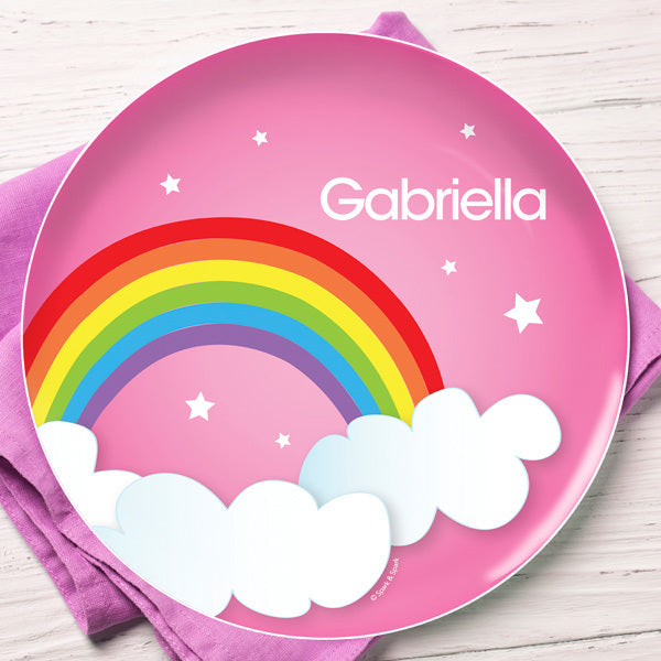 Dreamy Rainbow Personalized Kids Plates - Give Wink