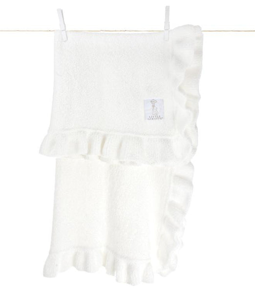 Dolce Ruffle Blanket - Little Giraffe - Give Wink Miami Baby Store - White