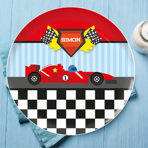 Fast Race Personalized Kids Plates - Give Wink