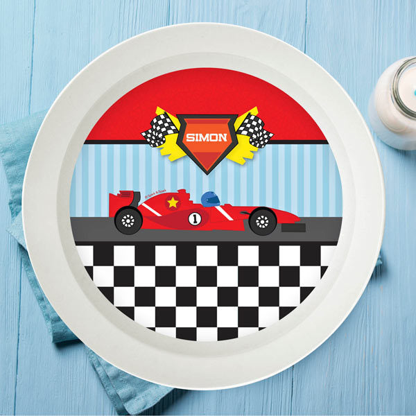 Fast Race Personalized Kids Bowl - Give Wink