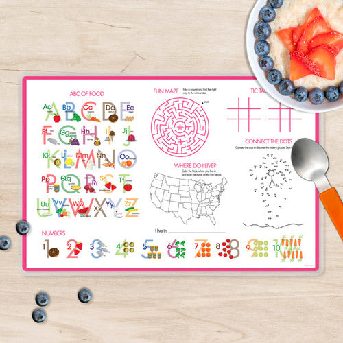 Field of Flowers Personalized Kids Placemat - Give Wink