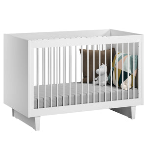 Little Guy Comfort Fino Children's Convertible 3 in 1 Crib and Youth Bed - Give Wink