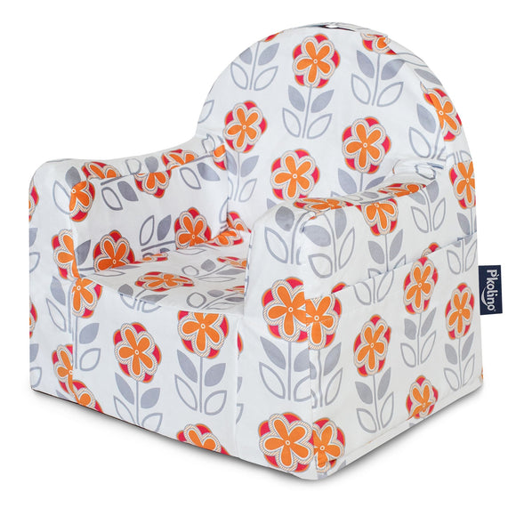 Flowers: White and Orange Little Reader Chair - Give Wink