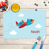 Fly Little Plane Personalized Kids Placemat - Give Wink