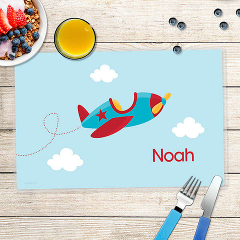 Fly Little Plane Personalized Kids Placemat