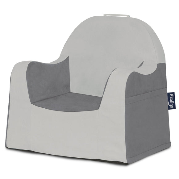 Light Grey & Dark Grey Little Reader Chair - Give Wink