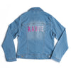 Kids Embroidered Denim Jacket - Give Wink