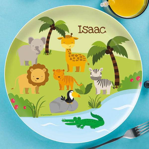 Spark and Spark. Jungle Fever Personalized Kids Plates. Miami Baby Store