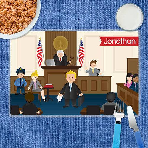 Legally Correct Boy Personalized Kids Placemat - Give Wink