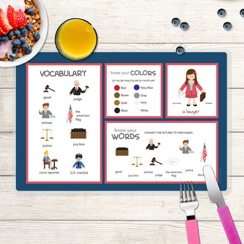 Legally Correct Girl Personalized Kids Placemat