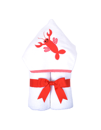 Hooded Towel Lobster Love- 3 Marthas - Miami Baby Store