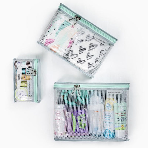 Toiletry Cubes S/3 Piccolo. Give Wink Miami Baby Store