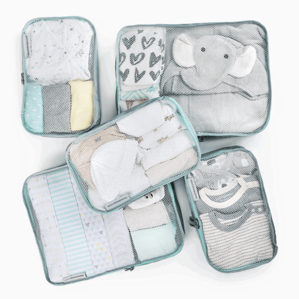 Packing Cubes S/5 (Piccolo) - Mint - Give Wink