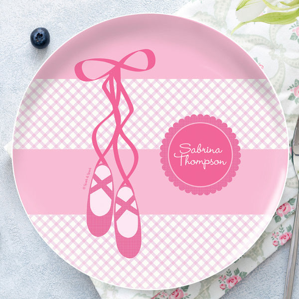 Spark and Spark. My Ballerina Shoes Personalized Kids Plates. Miami Baby Store