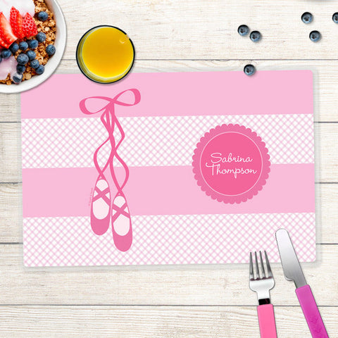 My Ballerina Shoes Personalized Kids Placemat