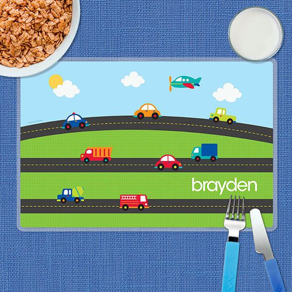 My Commute Personalized Kids Placemat - Give Wink