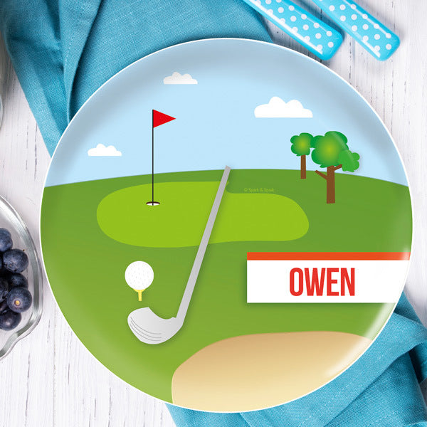 My Love For Golf Personalized Kids Plates - Give Wink
