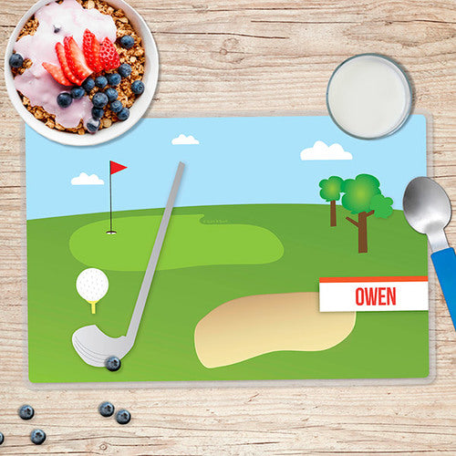 My Love for Golf Personalized Kids Placemat - Give Wink