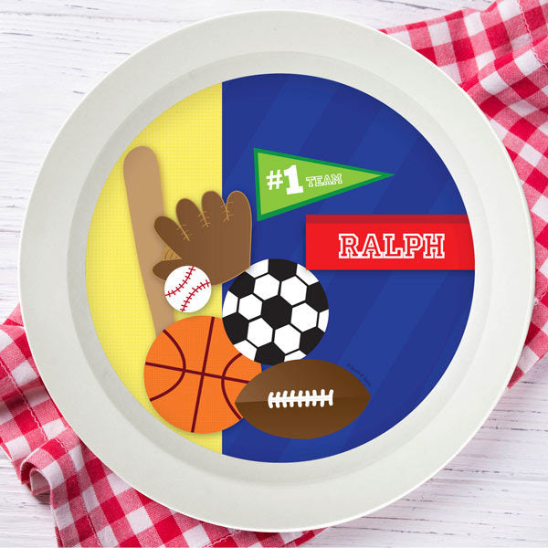 Spark and Spark. My Love for Sports Personalized Kids Bowl. Miami Baby Store