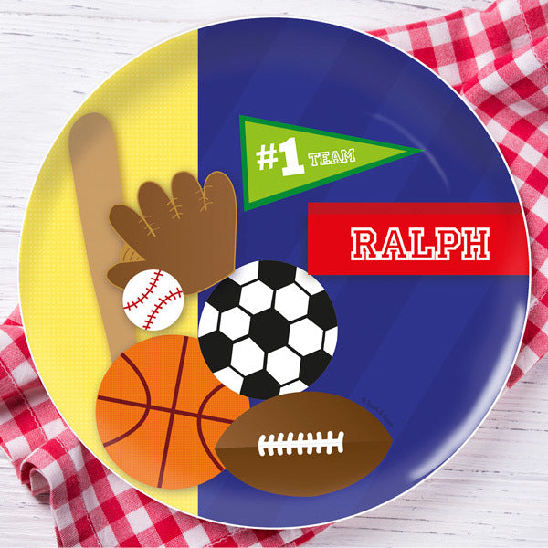 My Love For Sports Personalized Kids Plates - Give Wink