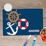 Nautical Ways Personalized Kids Placemat - Give Wink