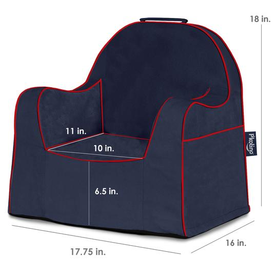 Navy with Red Piping Little Reader Chair - Give Wink