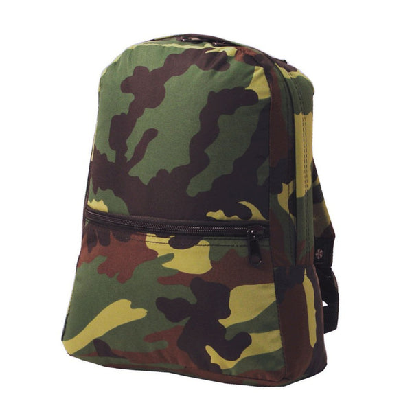 Camo Nylon Small Backpack - Give Wink